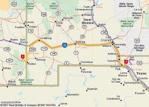 Arizona Sky Village Directions Page